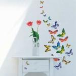 Интерьерные наклейки бабочки