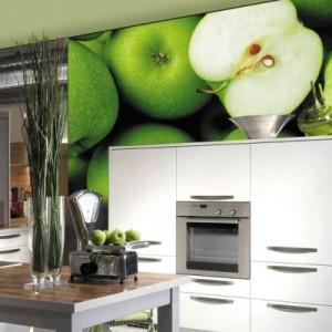 Фотообои на кухонном гарнитуре
