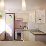 Расположение кухонного гарнитура в небольшой кухне