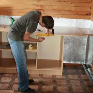 Сборка кухонного напольного шкафа