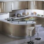 Дизайн кухонного гарнитура в стиле модерн фото