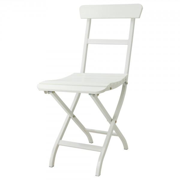 Белый деревянный складной стул