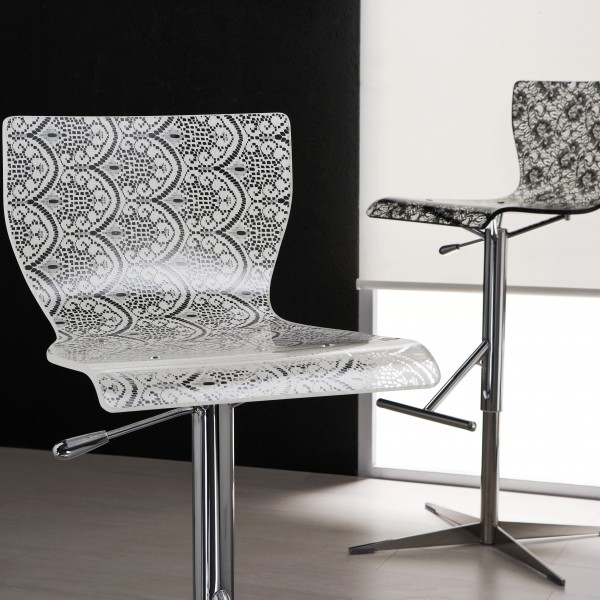 Дизайнерский барный стул, регулируемый по высоте