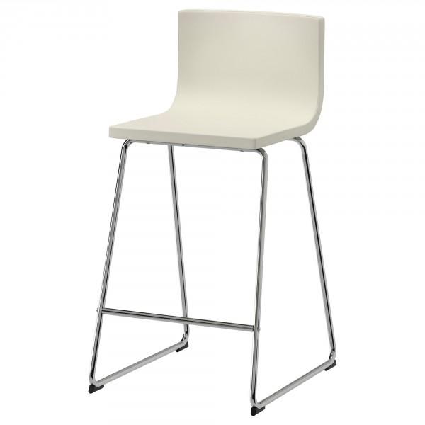 Металлический хромированный барный стул ИКЕА