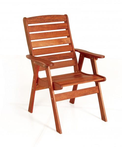 Складной стул с подлокотниками