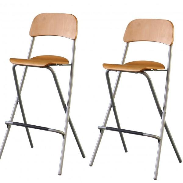 Складные барные стулья с металлическим основанием