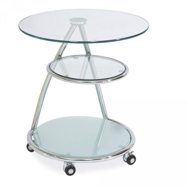 Стеклянный трехуровневый столик