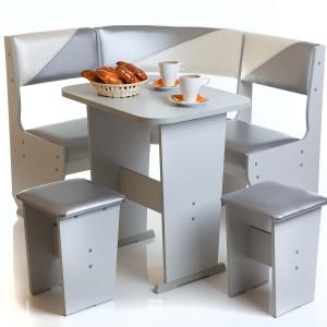 Практичный кухонный уголок для маленькой кухни