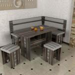 Деревянный кухонный уголок