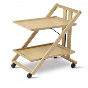 деревянный складной сервировочный столик