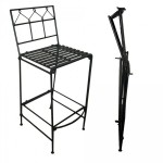 Металлический складной барный стул