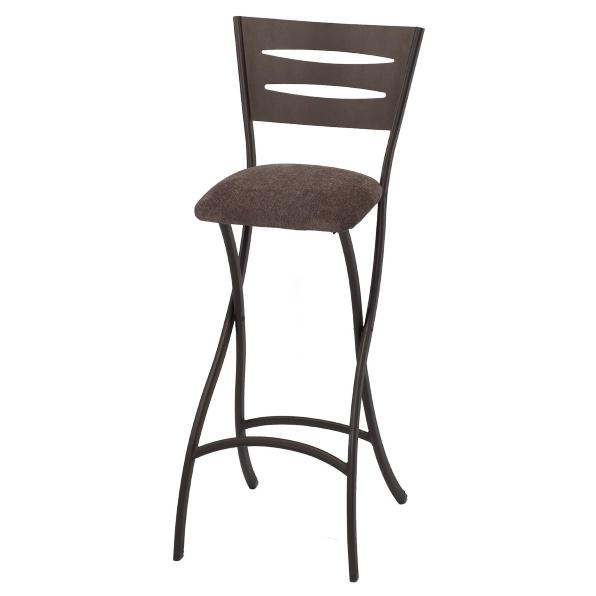 Мягкий складной барный стул