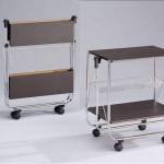 Складные сервировочные столики на колесах