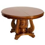 Круглый деревянный стол с резными