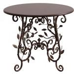 Стол с кованными ножками и деревянной столешницей