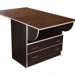 Стол-книжка с ящиками темного цвета