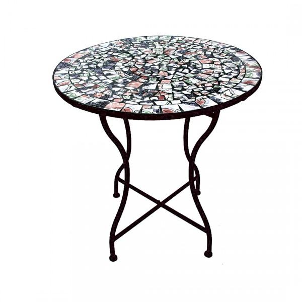 кованный стол с плиткой