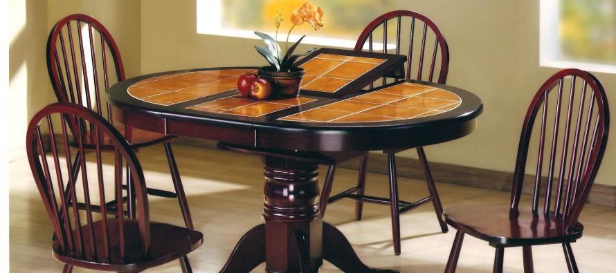 кухонный стол с керамической плиткой миниатюра