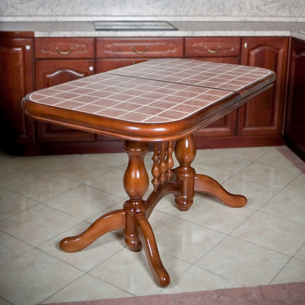 кухонный стол с керамической плиткой раздвижной