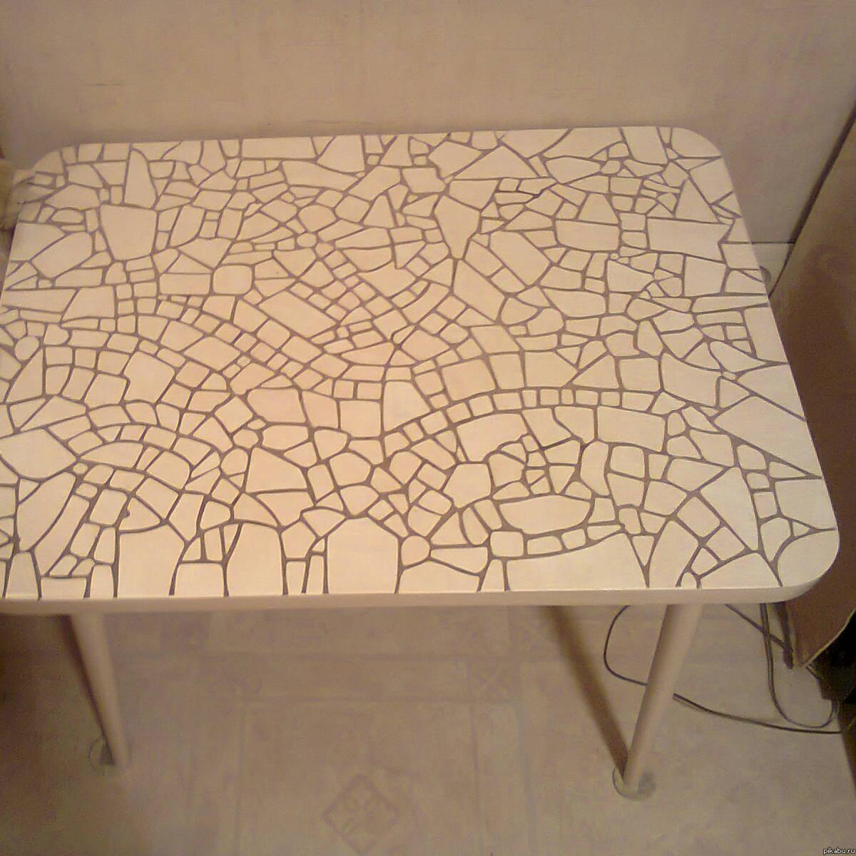 Как сделать стол из керамической плитки