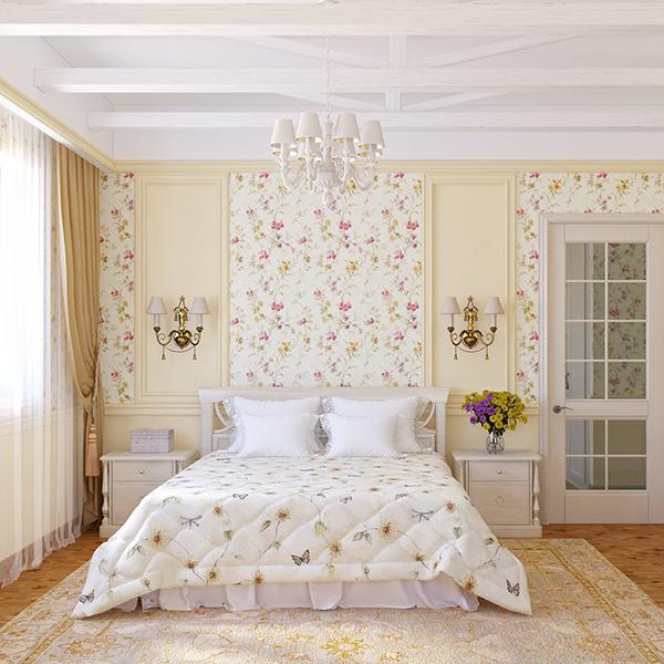Спальня Кантри фотография