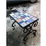 стол с плиткой авангард