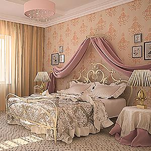 Спальня прованс в розовых тонах