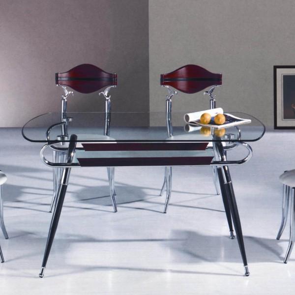 Подстолье в конструкции стеклянного стола (фото)