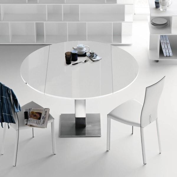 Раскладной стеклянный стол
