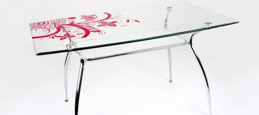Стеклянный стол с рисунком, как правильно нанести рисунок