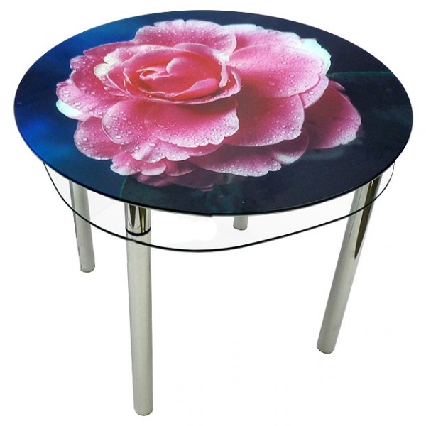 Стеклянный стол с нанесением