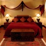 Уютная спальня в восточном стиле