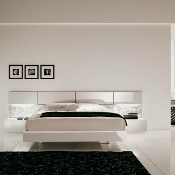 Белая спальня в стиле модерн
