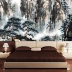 Необычный дизайн спальни в японском стиле