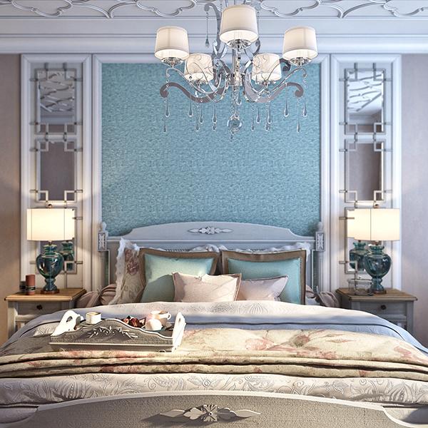 Необычная спальня в стиле неоклассицизм
