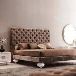 Кремовая спальня в стиле модерн
