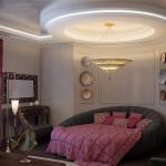 Интересный дизайн восточной спальни
