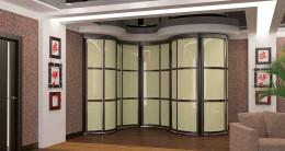 Радиусные шкафы-купе: эксклюзив и оригинальность для помещений любой конфигурации