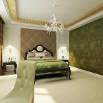 Необычный дизайн спальни в классическом стиле