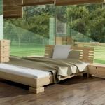 Спальня из массива светлого дерева