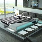 Необычная спальня в стиле хай-тек