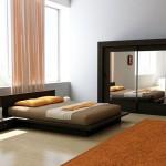 Яркая спальня в стиле минимализм