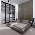 Красивый вариант оформления спальни в стиле минимализм