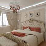 Нежная спальня в стиле барокко