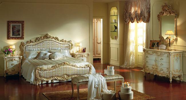 Спальня в стиле барокко – королевская роскошь на современный лад