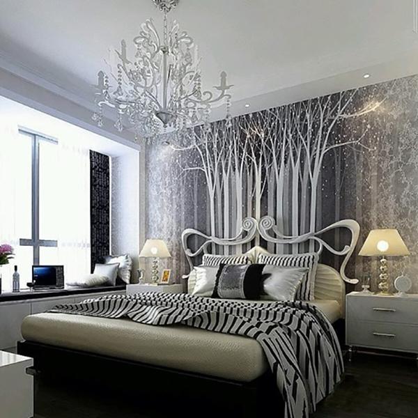 Необычная спальня в стиле модерн