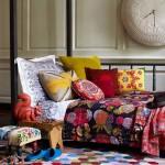 Разноцветная палитра в интерьере спальни