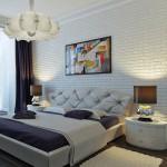 Уютная спальня в современном классическом дизайне