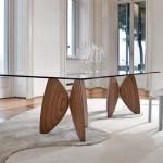 Оригинальный стеклянный стол (Италия)