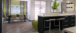 Кухня-студия с барной стойкой: современное искусство зонирования
